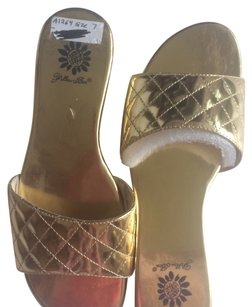Yellow Box 6 Gold Sandals