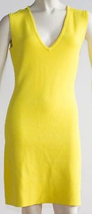 Yigal Azrouël Bodycon Stretch Sleeveless Colorblock Dress