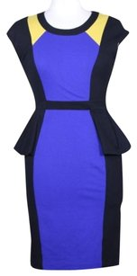 Yoana Baraschi Womens Black Sheath Career Party Dress