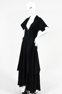 Black Maxi Dress by Yohji Yamamoto Tiered