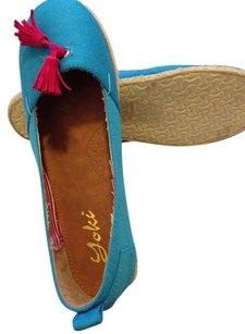 Yoki Ocean blue/hot pink Flats