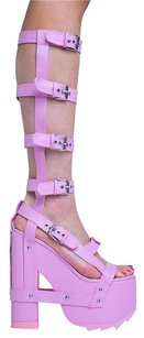 YRU Finalpairs Knee-high Pink Sandals