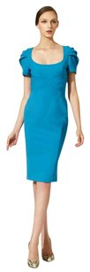 Zac Posen Fitted Date Night Night Out Party Wool Dress