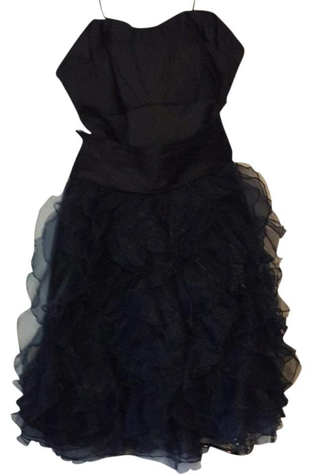 Zac Posen For Target Black Strapless Mid Length Night Out