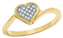 Zales Diamond Accent Micro Heart Dainty Ring in 10K Gold -