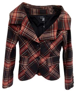 Zara Plaid Germany Multi-Color Jacket