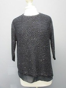 Zara Knit Sequined Sweater