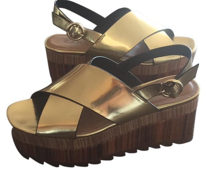 Zara gold wedge
