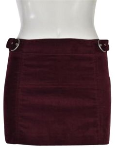 Zara Mini Skirt Maroon