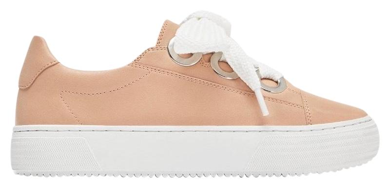 Zara Pink Sneakers with Grommets Details Flats Size US 7.5 Regular (M, B)