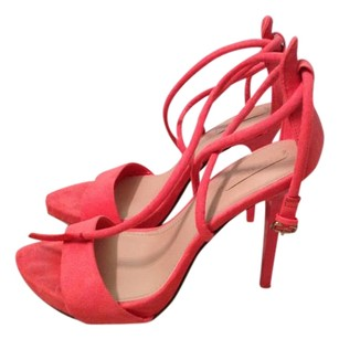 Zara Strappy Stiletto Pump BRIGHT PINK Sandals