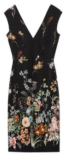 Zara Floral Tube Sheath Date Dress