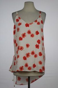 Zara Basic Womens Red Wrap Sleeveless Casual Floral Shirt Top Ivory, Red, Peach, Black