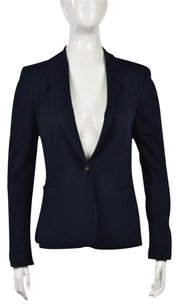 Zara Zara Basic Womens Navy Blazer Wtw Long Sleeve Career Viscose Blend Jacket